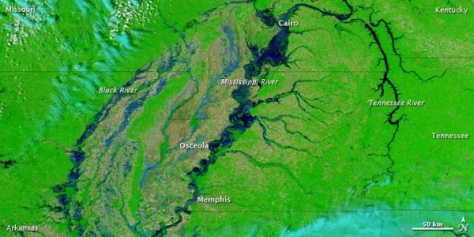 Image: Image of Mississippi River from space