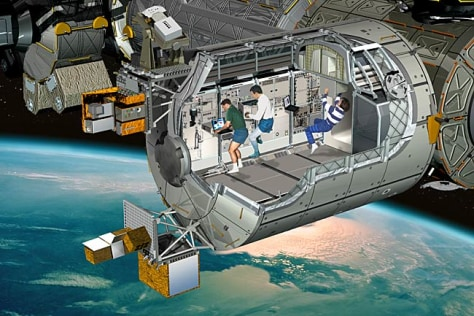 Image: Although Columbus is the smallest laboratory on board the International Space Station, it offers the same workspace volume as other science modules on orbit.