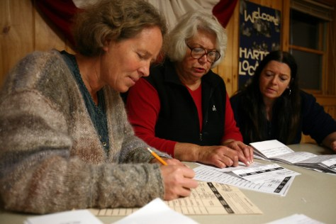 Image: Tallying up votes in Hart's Location, N.H.