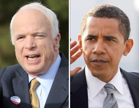 Image: John McCain, Barack Obama