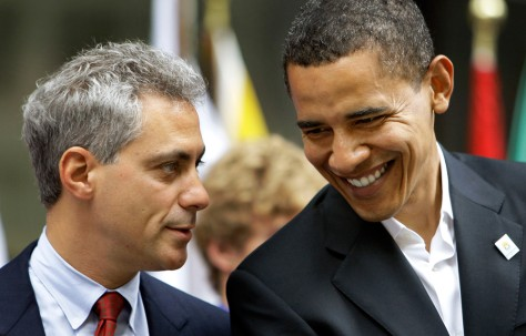 Image: Rahm Emanuel and Barack Obama