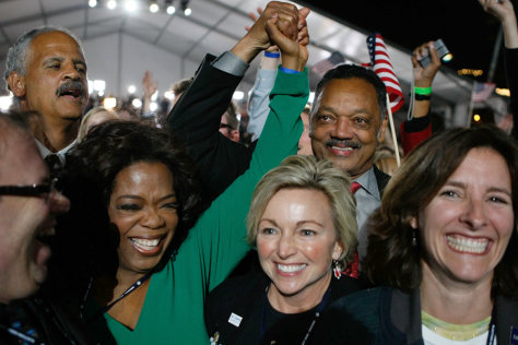 Image: Oprah Winfrey celebrates Obama win