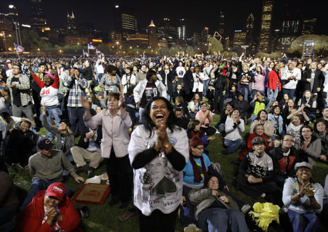 Image: Obama supporters in Chicago