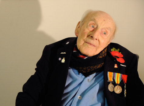 Image: Britain's oldest war veteran Henry Allingham