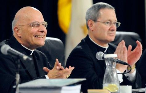Image: Catholic Bishops Francis E. George, David J. Malloy