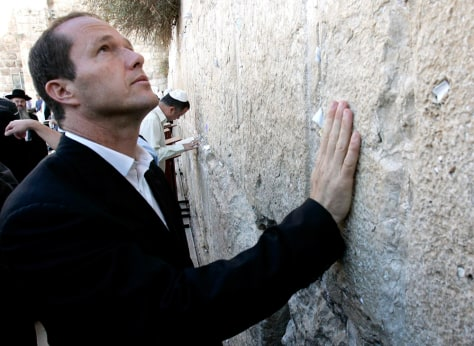 Image: Nir Barkat at Western Wall