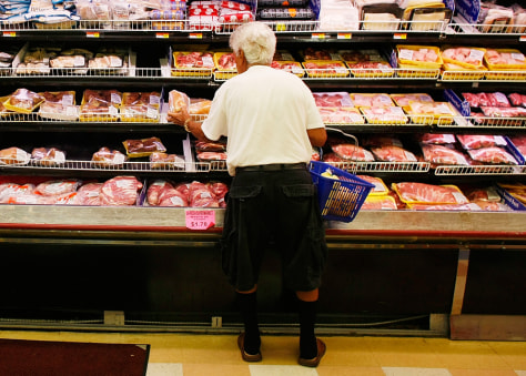 Image: Meat section in grocery store