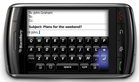 Image: BlackBerry Storm virtual keyboard