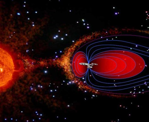 Image: artistic depiction of mini magnetosphere