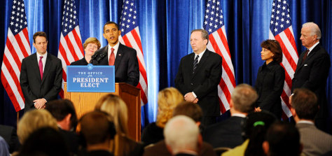 Image: Obama introduces economic team