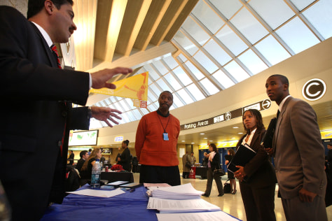 Image: Career Fair Held At Izod Center