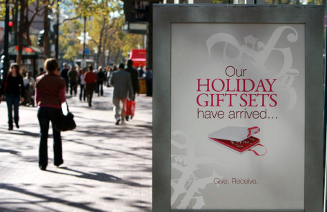 Image: Ad displaying holiday sale in San Francisco