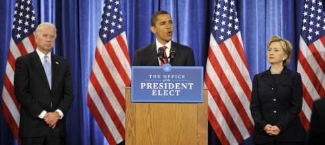 Image: Barack Obama, Joseph Biden,Hillary Clinton