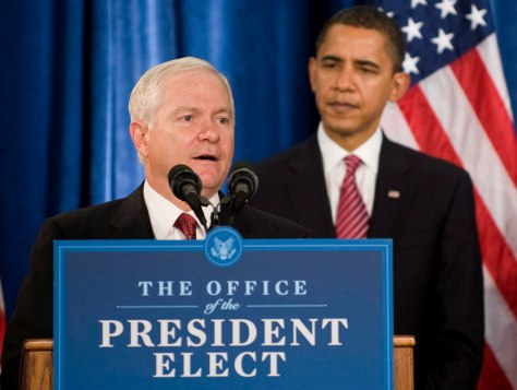 Image: Robert Gates, Barack Obama