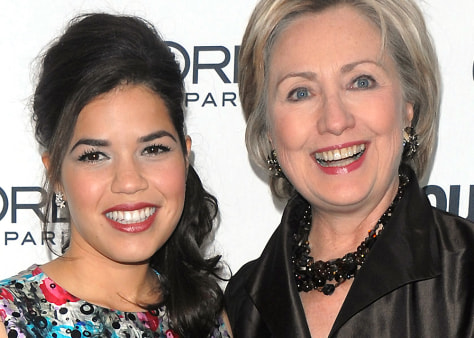 Image: America Ferrera, Hillary Clinton