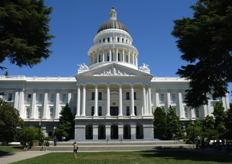 Image: The California state capitol