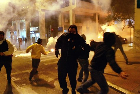 Image: Greece violence