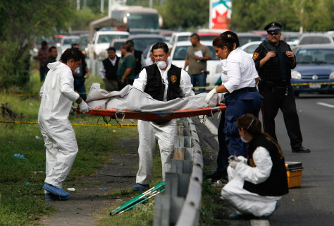 Image: Crime scene in Monterrey