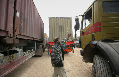 Image: Afghan truck driver