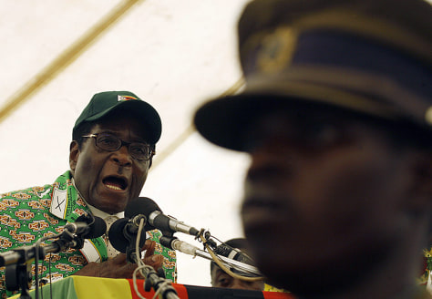 Image: Zimbabwean President Robert Mugabe