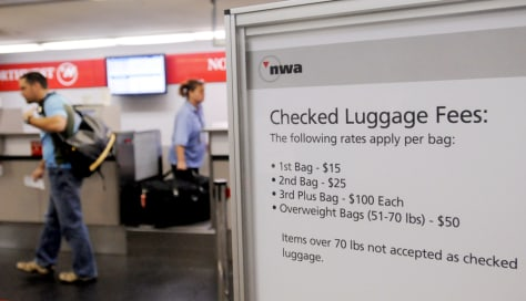 Image: Airlines bag fees