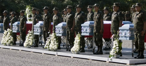 Image: Funeral for soldiers murdered in Mexico