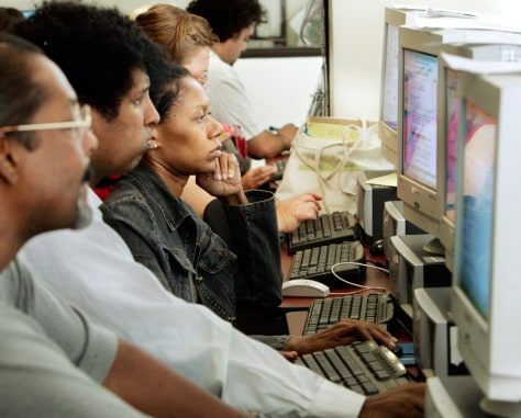 Image: Job seekers at Worksource California