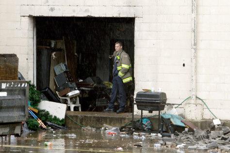 Image: Texas homeless shelter fire