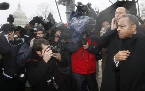 Image: Roland Burris leaves Capitol