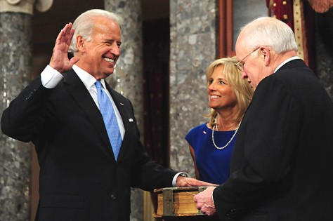 Image: Joe Biden is sworn into Senate