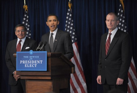 Image: Obama with Panetta, Blair