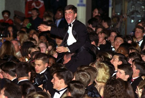 Image: A reveler at one of Bill Clinton's inaugural balls