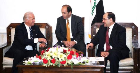 Image: Joe Biden, Nouri al-Maliki