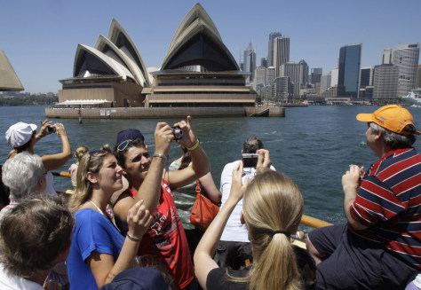 Image: Ferry riders, Sydney Opera House