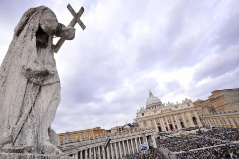 Image: Saint Peter square at the Vatican