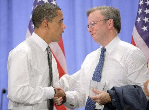 Image: Barack Obama, Eric Schmidt