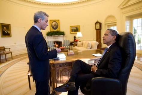 Image: Barack Obama and Rahm Emanuel in Oval Office