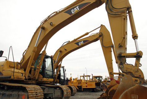 Image: Caterpillar construction machines