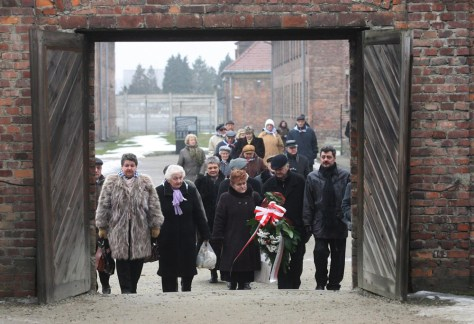 Image: Ex-prisoners attend Auschwitz ceremonies