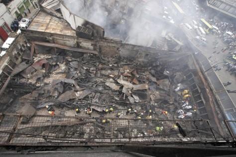 Image: Site of Nairobi blaze