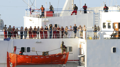 Image: Crew of hijacked ship