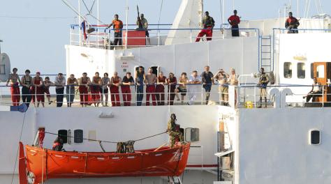 Image: Crew ofhijacked ship