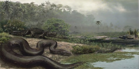 Image: Extinct giant snake