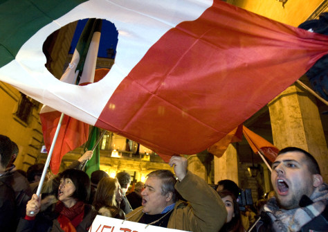 Image: Right-to-die demonstrators in Rome