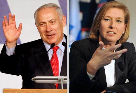 Image: Benjamin Netanyahu andTzipi Livni