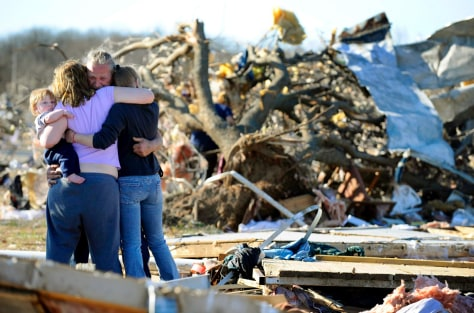 Tornados moved through the state of Oklahoma killing at least 8 people in the small town of Lone Grove.