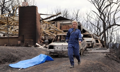 Image: Member of a disaster victim identification team