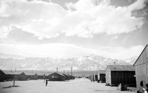 Image: Manzanar internment camp in the California desert.