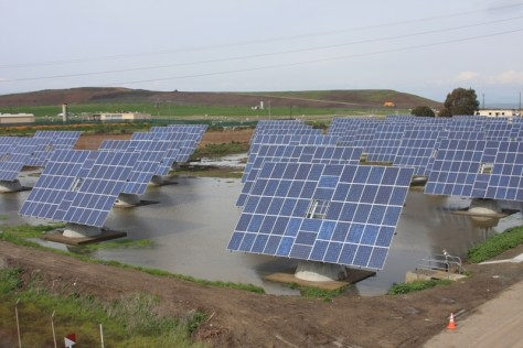 Image: Solar panels in ditches