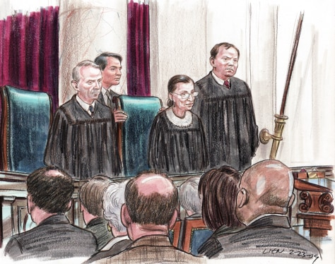 Image: Justice Ginsberg takes her seat